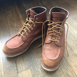 Men's Red Wing Leather Boots size 9.5